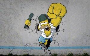 homer-strong-wallpunch
